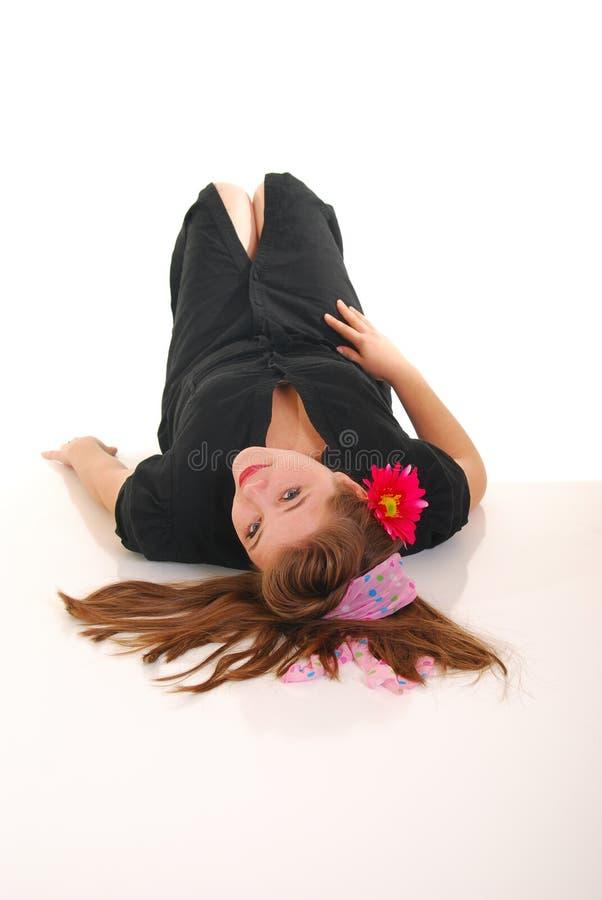 πάτωμα rollergirl στοκ φωτογραφίες