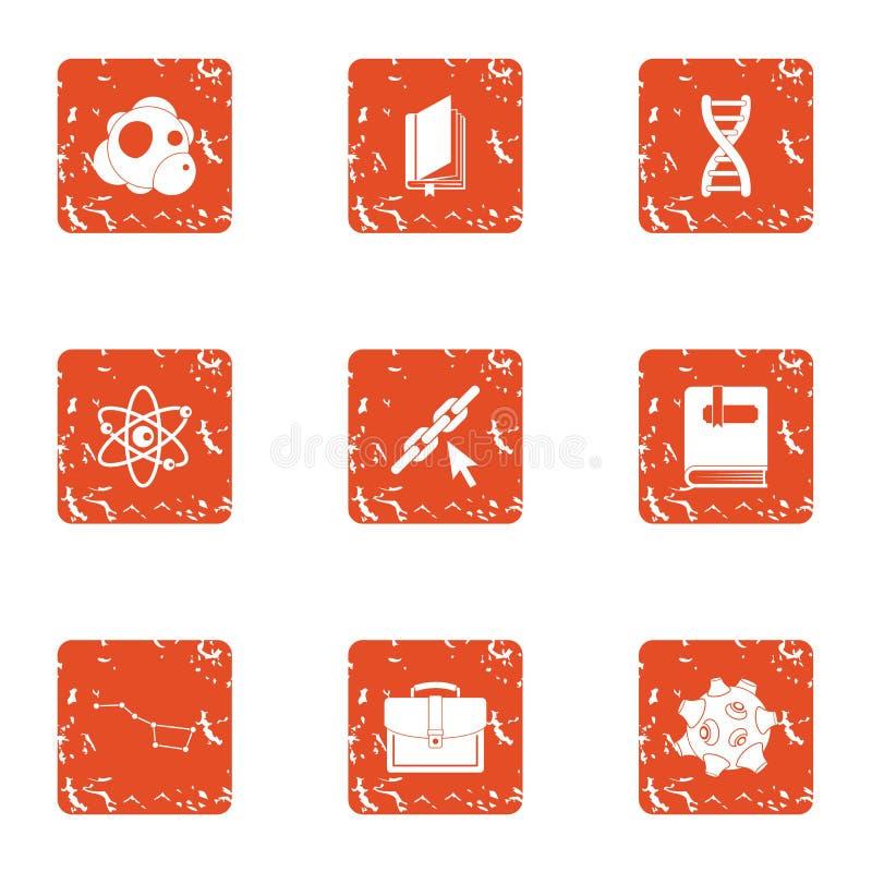 Πάχος των υλικών εικονιδίων καθορισμένων, grunge ύφος ελεύθερη απεικόνιση δικαιώματος