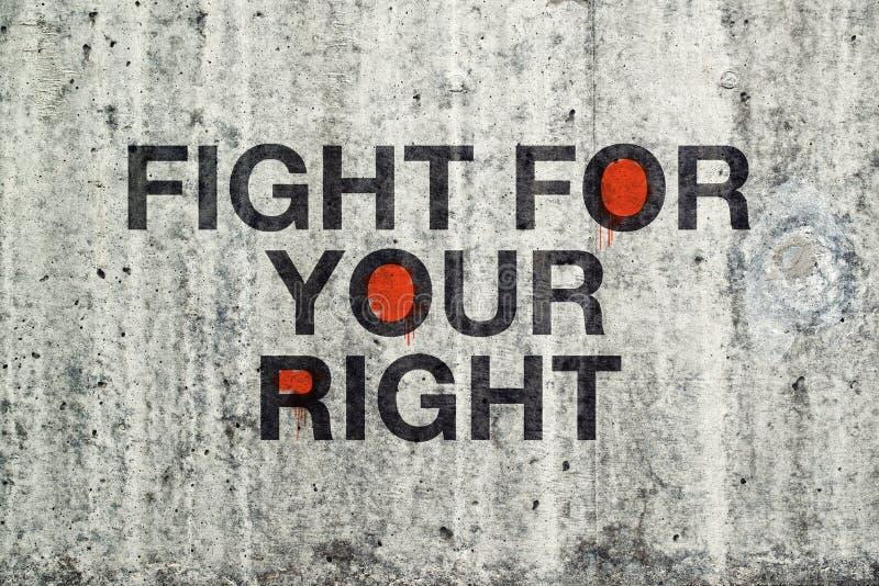 Πάλη για τα σωστά γκράφιτι σας στοκ εικόνα με δικαίωμα ελεύθερης χρήσης
