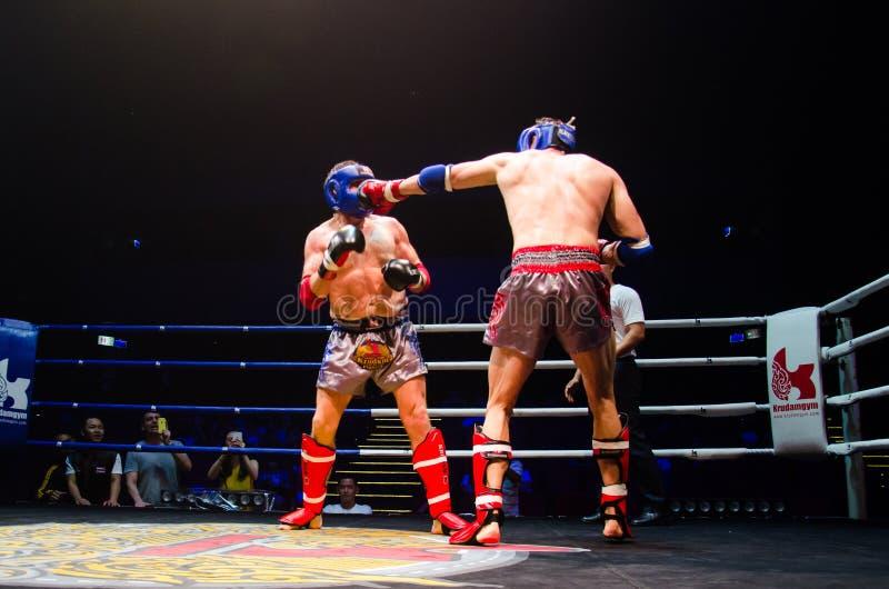 Πάλη Krudam #4 την ημέρα Muaythai στοκ εικόνα