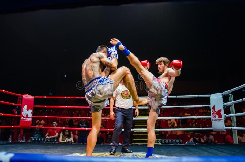 Πάλη Krudam #4 την ημέρα Muaythai στοκ εικόνες
