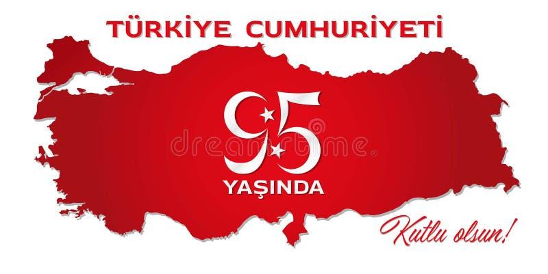 Πέμπτος εορτασμός ενενήντα της τουρκικής Δημοκρατίας απεικόνιση αποθεμάτων