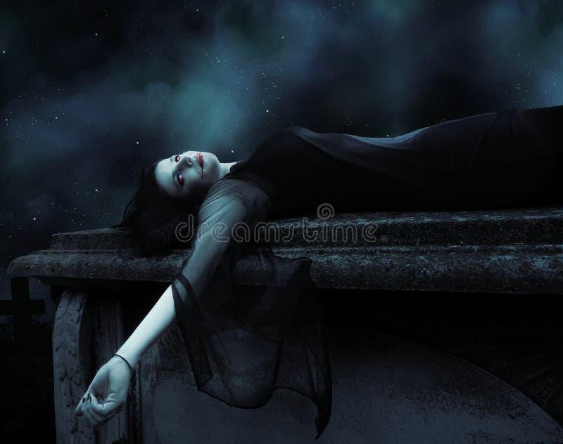 Πένθος Vamp στοκ φωτογραφίες με δικαίωμα ελεύθερης χρήσης