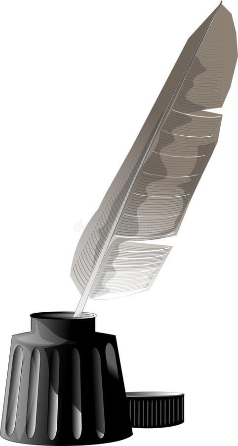 πέννα μελανιού φτερών απεικόνιση αποθεμάτων
