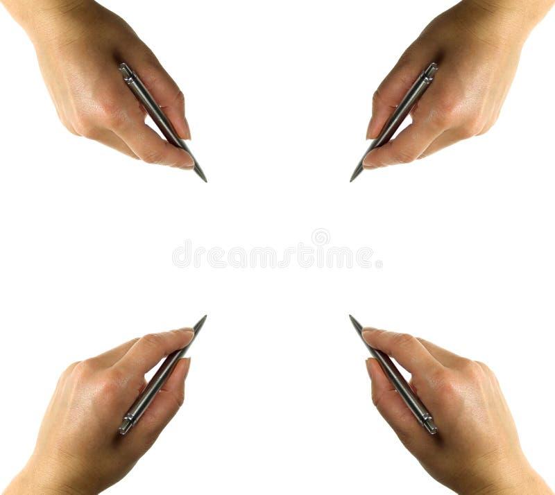 πέννα χεριών στάσιμη στοκ εικόνες
