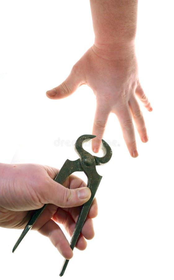 πένσες δάχτυλων που παγι&d Στοκ Φωτογραφίες