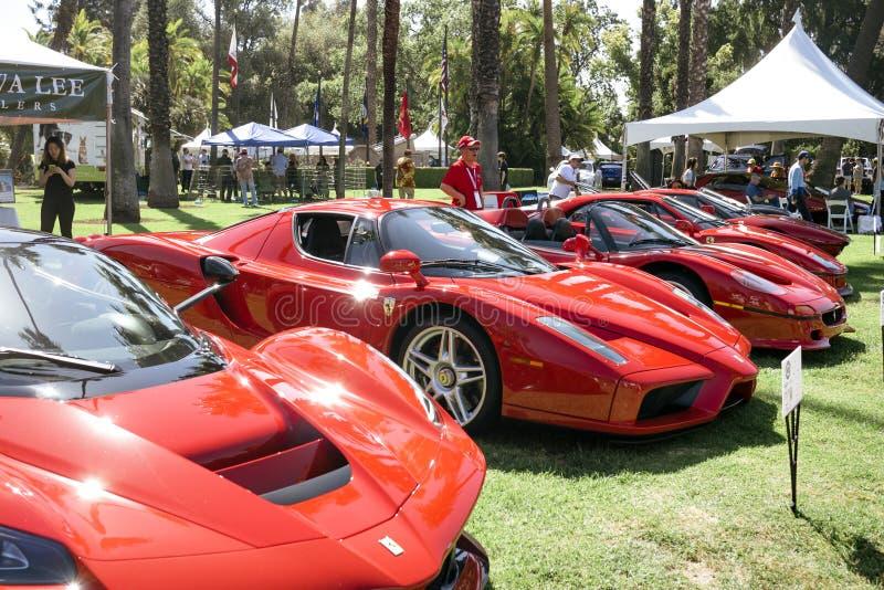 Πέντε έξοχο Ferraris επιδεικνύονται στον κλασικό μηχανών του Άγιου Μαρίνου του 2019 στοκ φωτογραφία με δικαίωμα ελεύθερης χρήσης