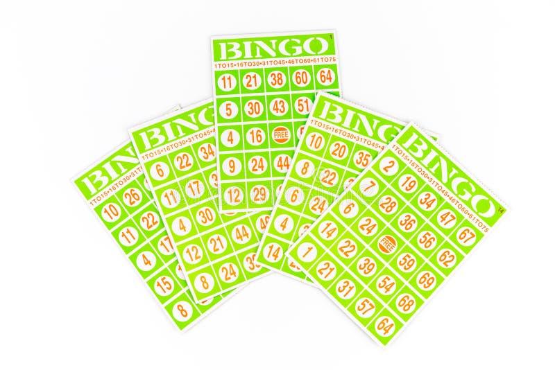 Πέντε από την κάρτα bingo, κέντρο μια που αποκτάται υψηλότερο στοκ εικόνες