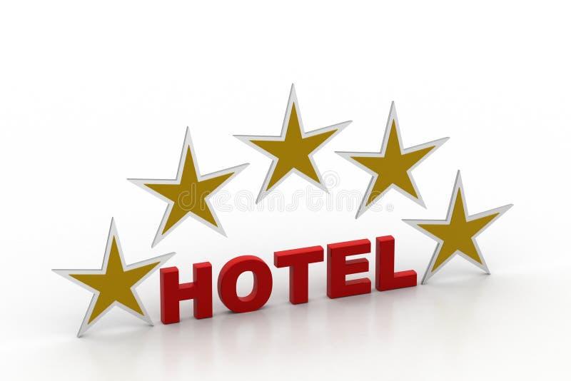 Πέντε αστέρων έννοια ξενοδοχείων ελεύθερη απεικόνιση δικαιώματος