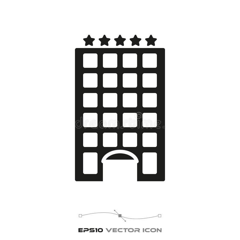 Πέντε αστέρων εικονίδιο ξενοδοχείων ελεύθερη απεικόνιση δικαιώματος