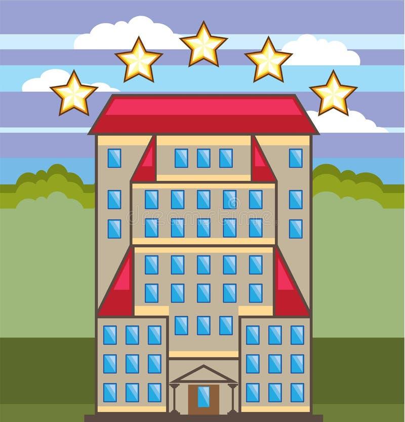 πέντε αστέρων ξενοδοχείο απεικόνιση αποθεμάτων