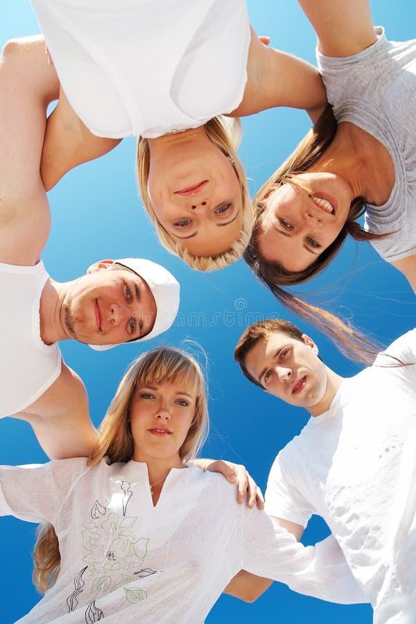 πέντε φίλοι στοκ εικόνες