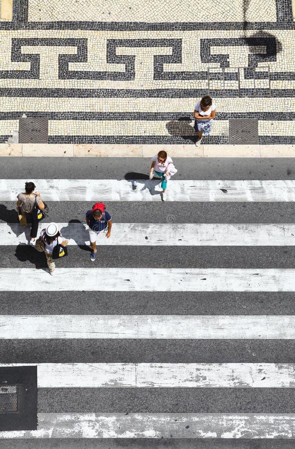 Πέρασμα πεζών η οδός στοκ φωτογραφίες