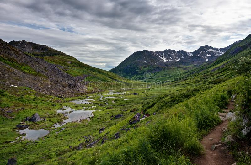 Πέρασμα της Αλάσκας Hatcher στοκ εικόνα