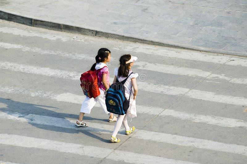 πέρασμα των σπουδαστών οδ στοκ φωτογραφίες