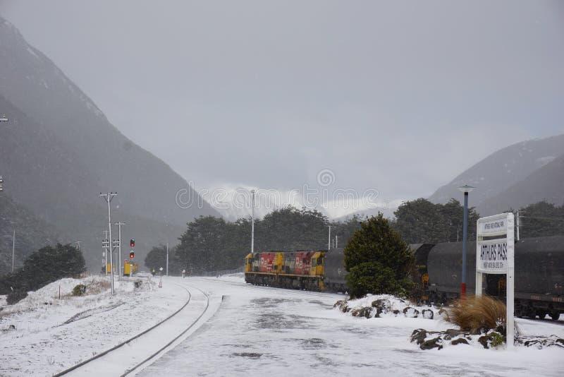 Πέρασμα Arthurs στο χιόνι στοκ εικόνες
