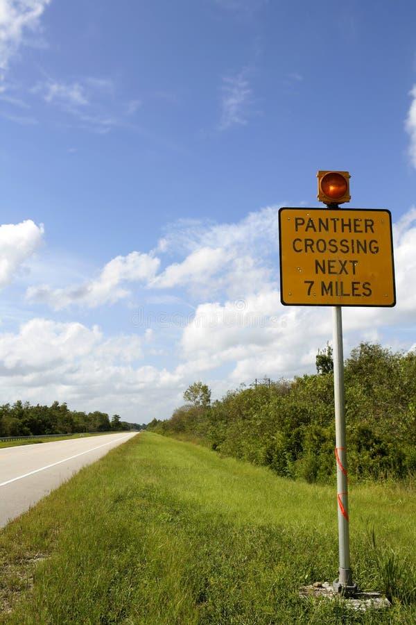 πέρασμα everglades του οδικού σήμα στοκ εικόνες