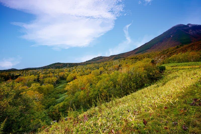 Πέρασμα Shiretoko το φθινόπωρο στοκ φωτογραφία με δικαίωμα ελεύθερης χρήσης