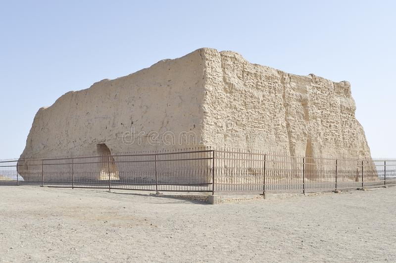 Πέρασμα Yumen, κατασκευή πριν από 2000 χρόνια στοκ εικόνα με δικαίωμα ελεύθερης χρήσης