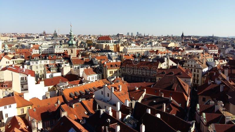 πέρα από την όψη της Πράγας στοκ εικόνες