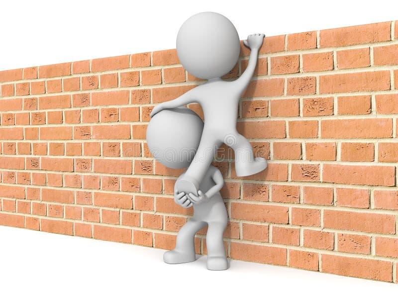 πέρα από τον τοίχο ελεύθερη απεικόνιση δικαιώματος