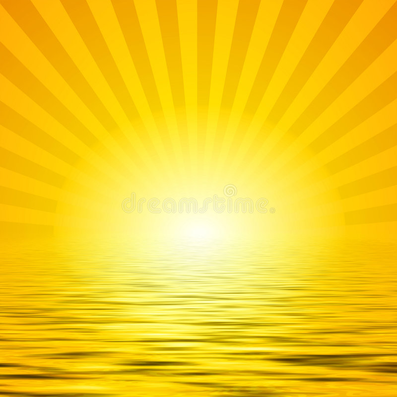 πέρα από το ύδωρ ηλιοφάνειας διανυσματική απεικόνιση