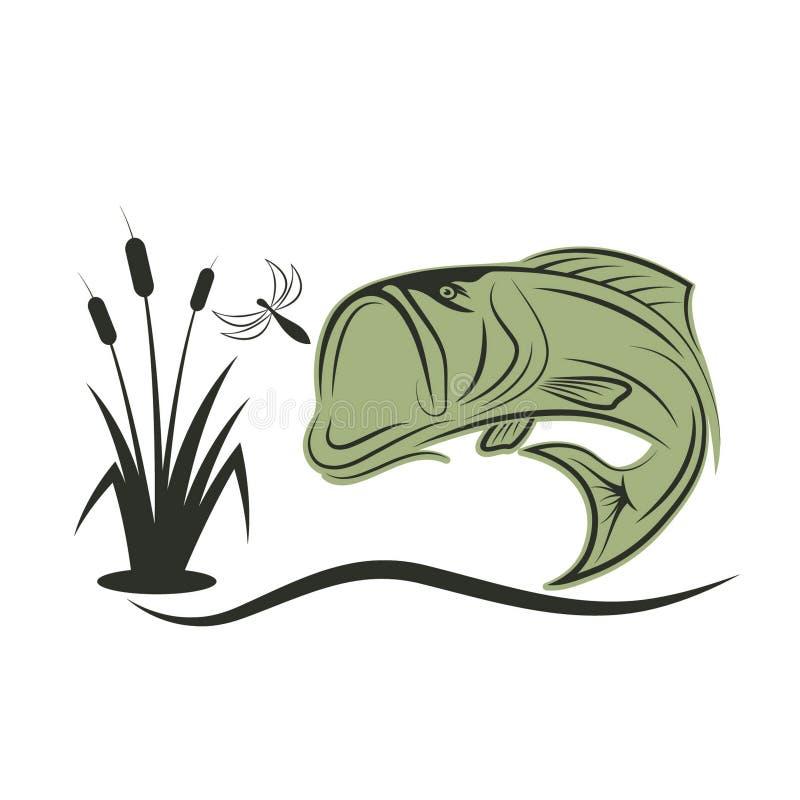 πέρκες για τα ψάρια λιβελλουλών απεικόνιση αποθεμάτων