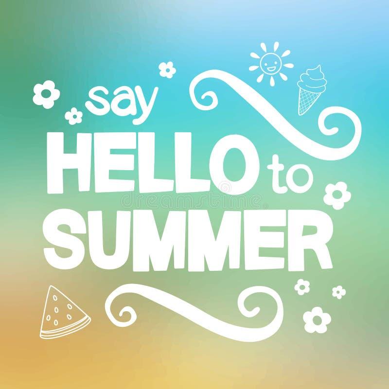 Πέστε γειά σου στο καλοκαίρι απεικόνιση αποθεμάτων