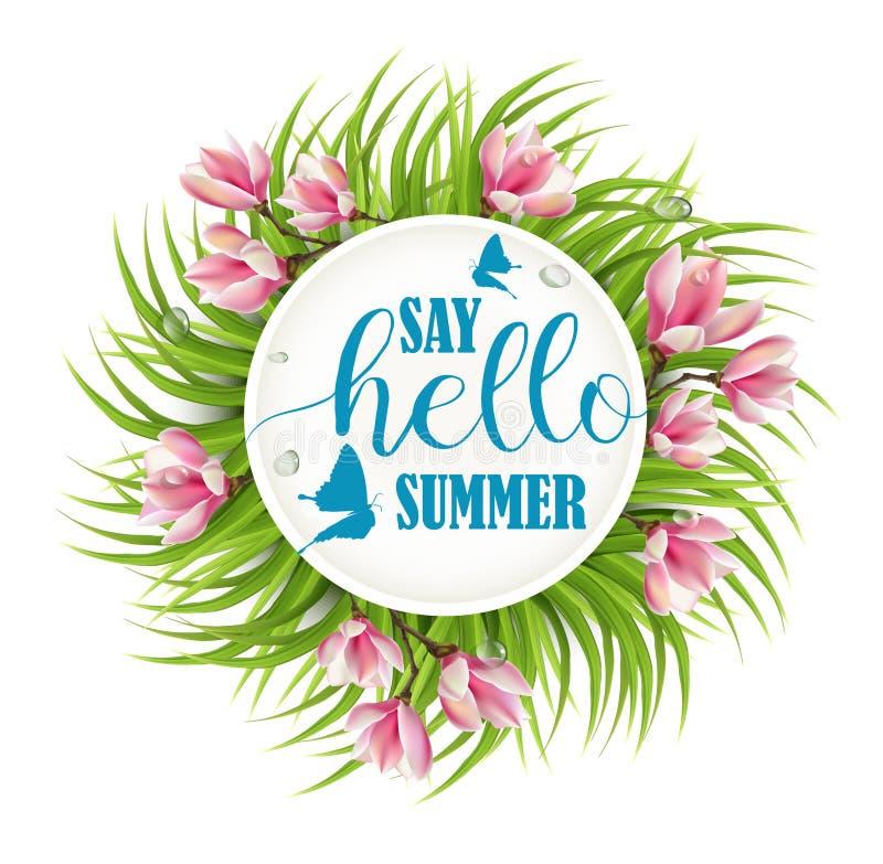 Πέστε γειά σου το καλοκαίρι απεικόνιση αποθεμάτων
