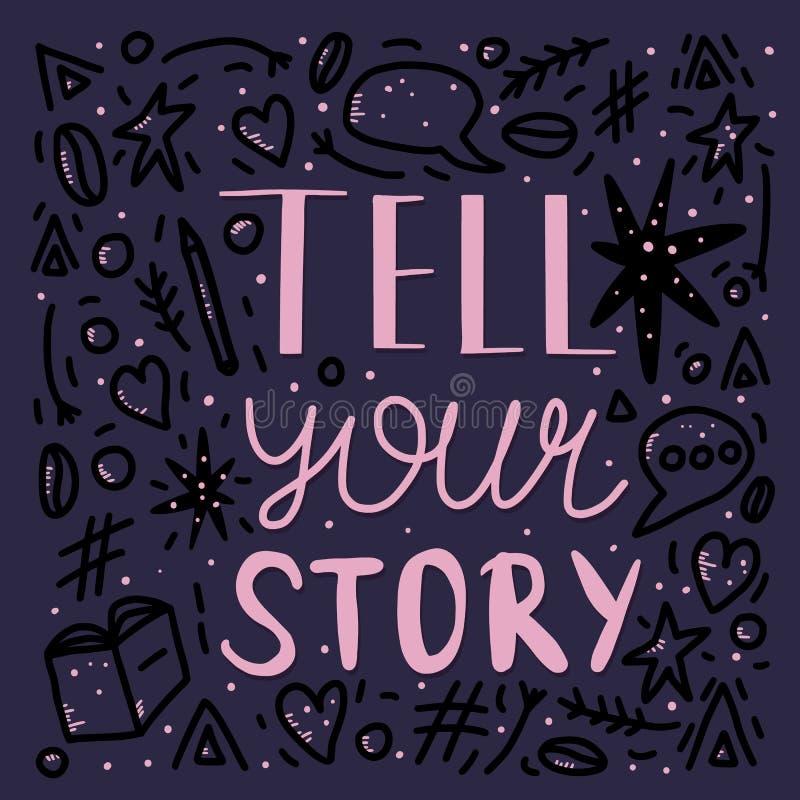 Πέστε στην ιστορία σας τη χειρόγραφη εγγραφή απεικόνιση αποθεμάτων