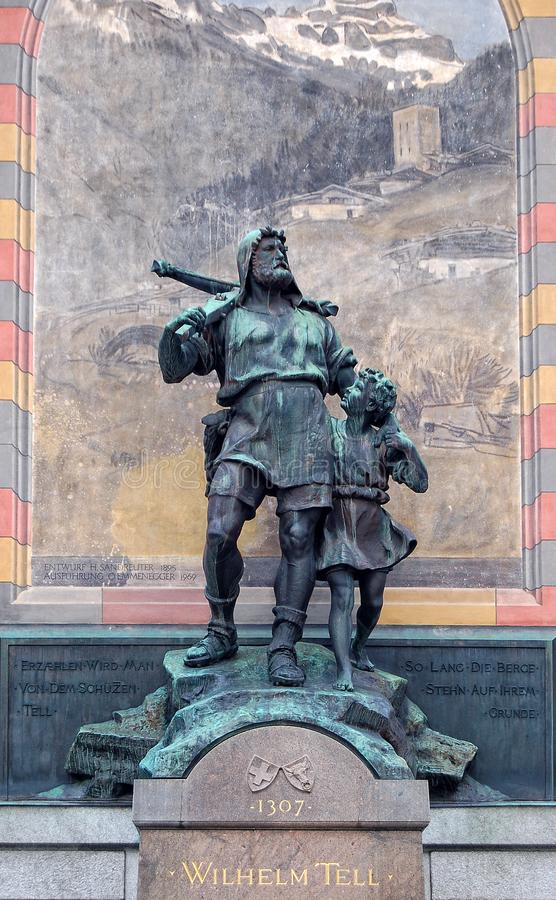 Πέστε το μνημείο - Altdorf στοκ εικόνα με δικαίωμα ελεύθερης χρήσης