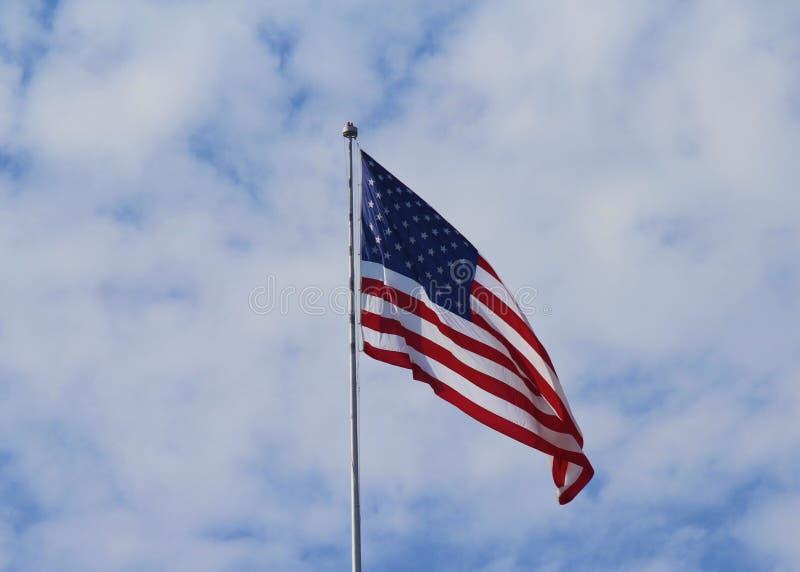 Πέταγμα αμερικανικών σημαιών στοκ εικόνα με δικαίωμα ελεύθερης χρήσης