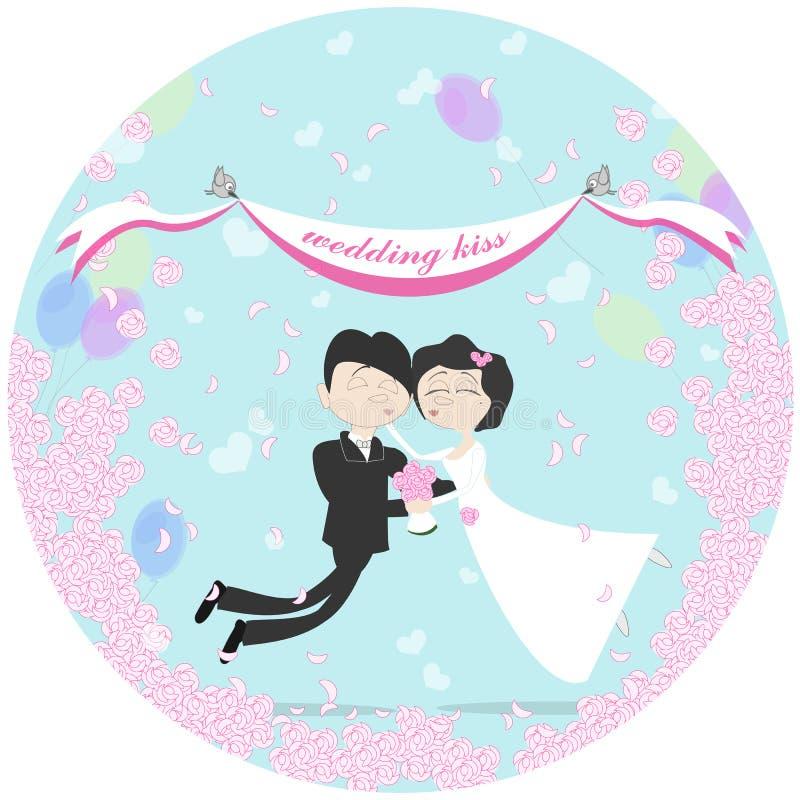 Πέταγμα γαμήλιων ζευγών απεικόνιση αποθεμάτων