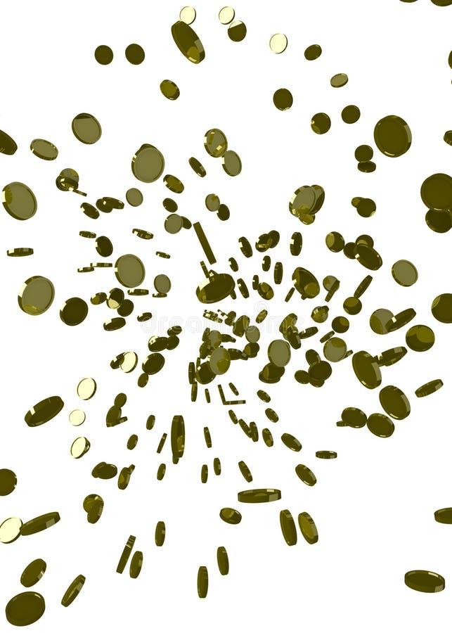 πέταγμα νομισμάτων διανυσματική απεικόνιση