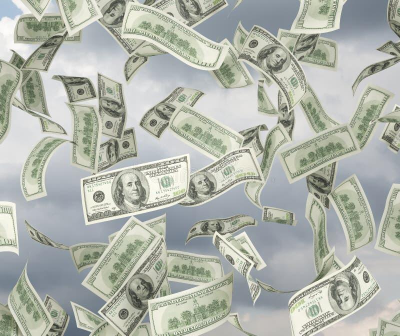 Πέταγμα λογαριασμών δολαρίων ελεύθερη απεικόνιση δικαιώματος