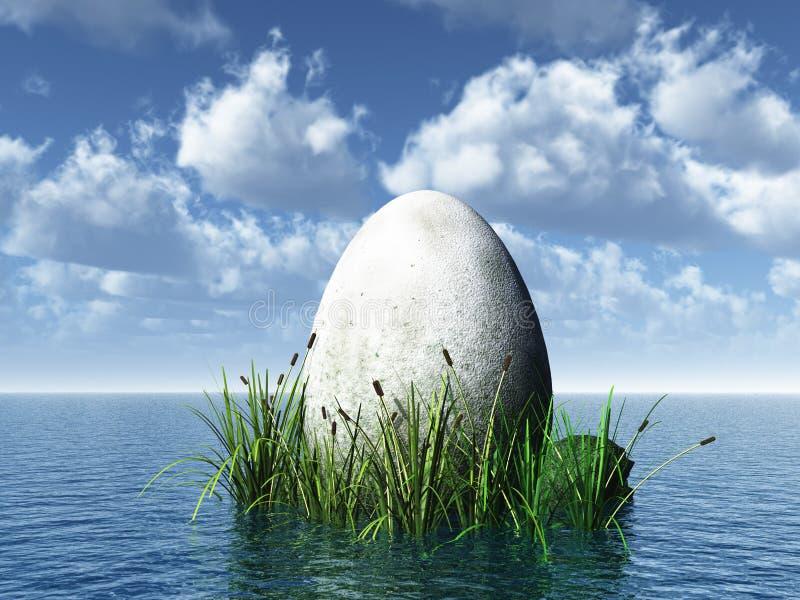 πέτρα αυγών ελεύθερη απεικόνιση δικαιώματος