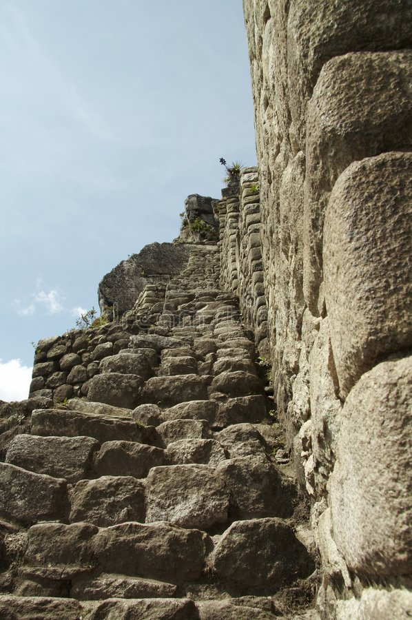 πέτρα βημάτων picchu machu πόλεων στοκ εικόνες με δικαίωμα ελεύθερης χρήσης