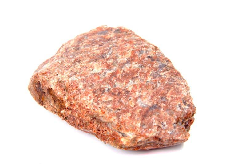 Πέτρα γρανίτη που απομονώνεται σε ένα άσπρο υπόβαθρο στοκ εικόνες με δικαίωμα ελεύθερης χρήσης