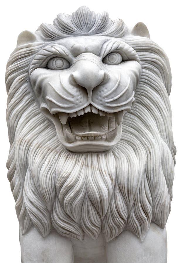 Πέτρα λιονταριών που απομονώνεται στοκ φωτογραφία με δικαίωμα ελεύθερης χρήσης