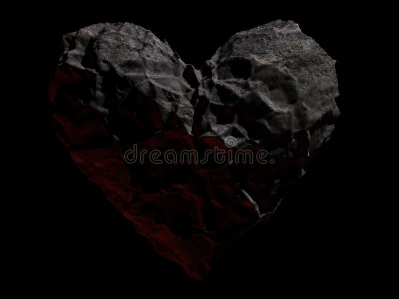 πέτρα καρδιών διανυσματική απεικόνιση
