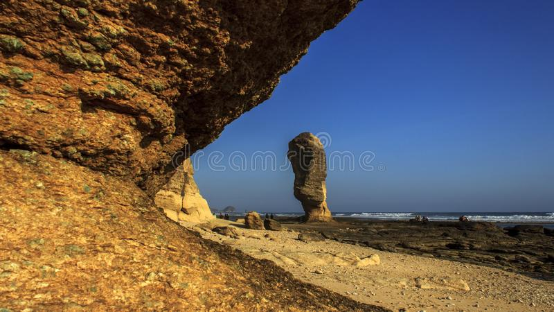 Πέτρα ομπρελών στοκ φωτογραφία