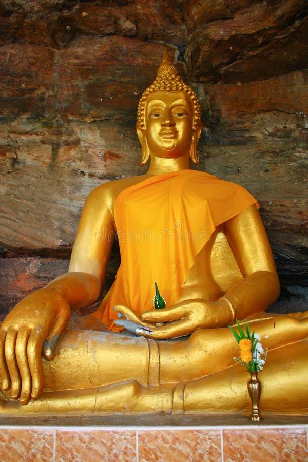 πέτρα του Βούδα ανασκόπησης στοκ εικόνες με δικαίωμα ελεύθερης χρήσης