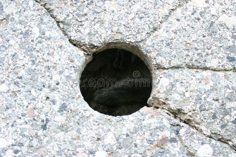 πέτρα τρυπών στοκ εικόνες με δικαίωμα ελεύθερης χρήσης