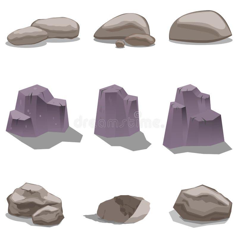 Πέτρες και βράχος απεικόνιση αποθεμάτων