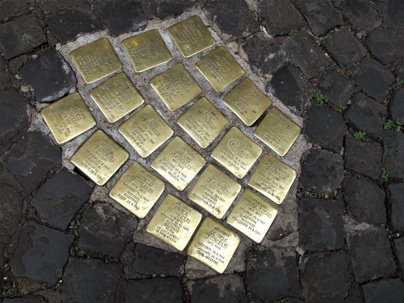 Πέτρες ολισθήματος στη Ρώμη στοκ εικόνα με δικαίωμα ελεύθερης χρήσης