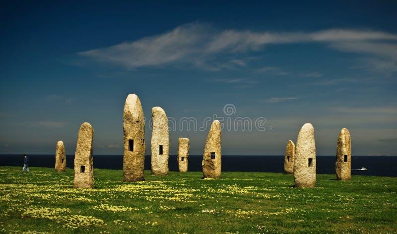 Πέτρες στο Λα Κορούνια στοκ εικόνες