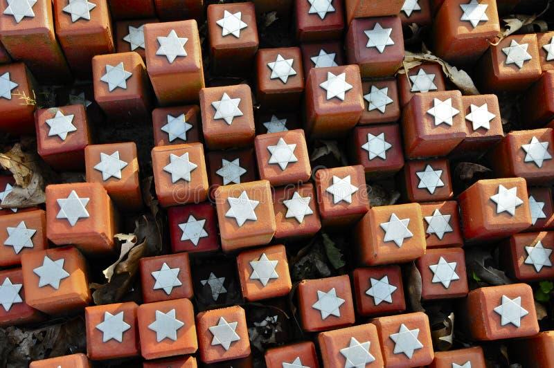 102 000 πέτρες στο στρατόπεδο διέλευσης Westerbork στοκ εικόνα