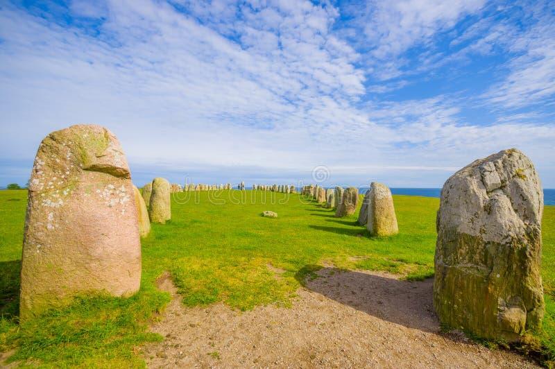Πέτρες του Ales σε Skane, Σουηδία στοκ φωτογραφίες