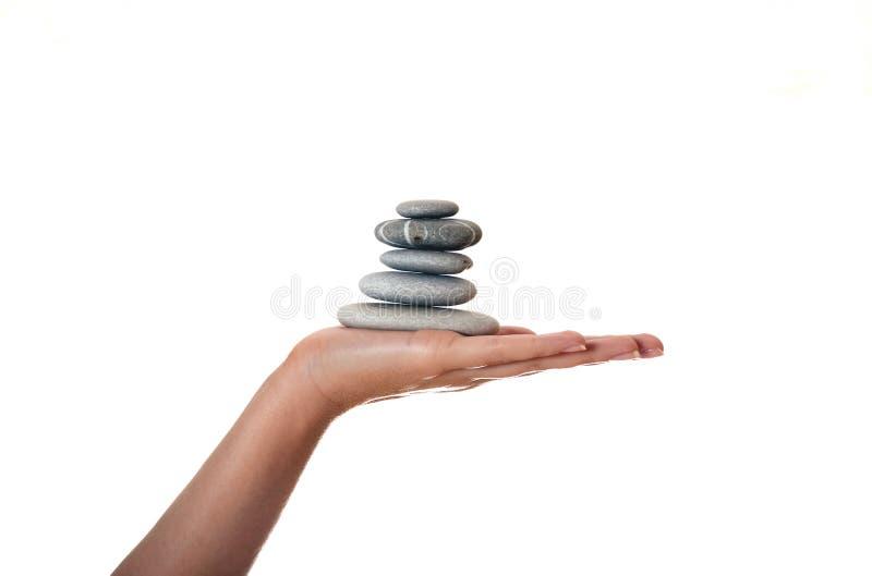 πέτρες χεριών στοκ εικόνα με δικαίωμα ελεύθερης χρήσης