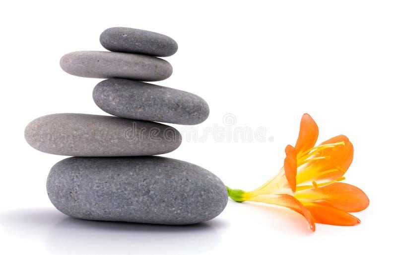 Πέτρες SPA με το λουλούδι στοκ φωτογραφία με δικαίωμα ελεύθερης χρήσης